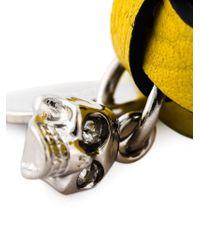 Alexander McQueen | Yellow Double Wrap Skull Bracelet | Lyst