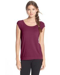 Zella | Purple 'studio' Scoop Neck Tee | Lyst