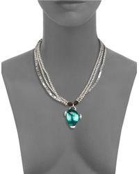 Uno De 50   Green Fatal Attraction Pendant Necklace   Lyst