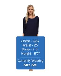Culture Phit - Black Millie 3/4 Sleeve T-shirt Dress - Lyst
