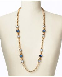 Ann Taylor - Metallic Midnight Frost Sparkle Necklace - Lyst