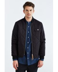 1c1eb468c219 Native Youth Quilted Curved Hem Varsity Jacket in Black for Men - Lyst