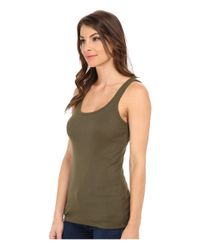 Splendid - Green 1x1 Tank Top - Lyst