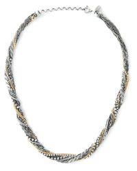Puro Iosselliani | Black Tangled Necklace | Lyst