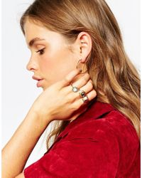 ASOS | Multicolor Marbled Stones Ring Pack | Lyst