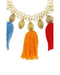 Stella Jean - Multicolor Lansing Pom Pom Necklace - Lyst
