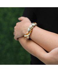 Pamela Huizenga - Metallic Saturn Chalcedony And Opal Bracelet - Lyst