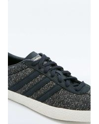 Adidas Originals - Gazelle '70s Black And White Trainers for Men - Lyst