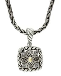 Lord & Taylor | Metallic Balissima Sterling Silver And 18k Yellow Gold Diamond Pendant Necklace | Lyst