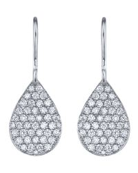 Irene Neuwirth | Metallic Pear Drop Diamond Earrings | Lyst