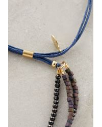 Shashi | Blue Single Petit Golden Nugget Adjustable Bracelet | Lyst
