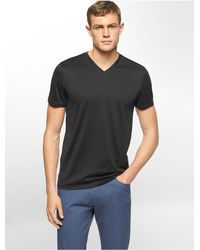 Calvin Klein | Black White Label Premium Slim Fit V-neck T-shirt for Men | Lyst