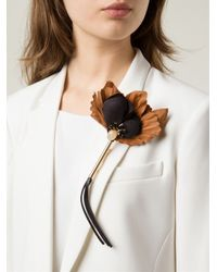 Marni | Black Geometric Brooch | Lyst