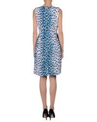 Dior - Blue Short Dress - Lyst