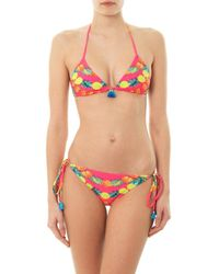 Mara Hoffman - Multicolor Garland-Print Triangle Bikini Top - Lyst