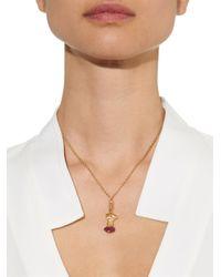Aurelie Bidermann - Diamond, Ruby & Yellow-gold Necklace - Lyst