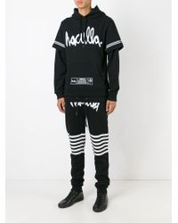 Haculla - Black Logo Print Layered Hoodie for Men - Lyst