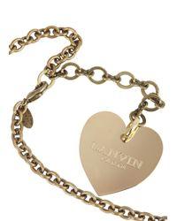 Lanvin - Metallic You Gold Tone Necklace - Lyst