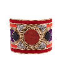 Etro | Metallic Bead-Embellished Suede Cuff | Lyst