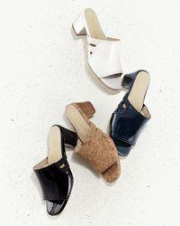 Taryn Rose - Black Rimba Patent Chunky-heel Sandal - Lyst