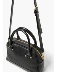 Mango | Black Zipped Pebbled Bag | Lyst