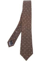 Eleventy - Brown Polka Dot Woven Tie for Men - Lyst