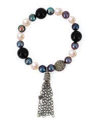 Loree Rodkin - Metallic Mixed Pearl Diamond Bracelet - Lyst