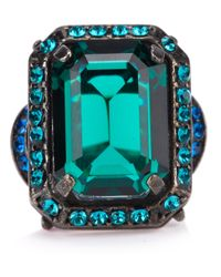 Lanvin | Green Crystal Ring | Lyst