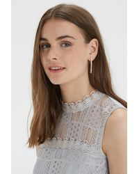 Oasis | Pink Shard Front To Back Earring | Lyst
