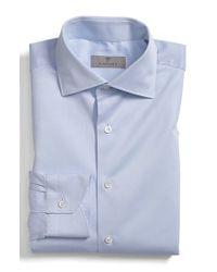 Canali | White Regular Fit Dobby Dress Shirt for Men | Lyst