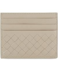 Bottega Veneta | Natural Woven Intrecciato Leather Card Holder - For Women | Lyst