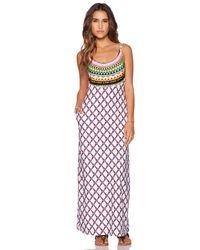 Trina Turk | White Kon Tiki Maxi Dress | Lyst
