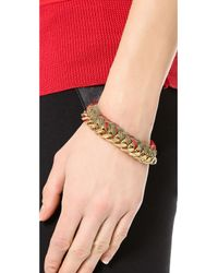 Aurelie Bidermann - Natural Do Brasil Bracelet - Khaki/red - Lyst