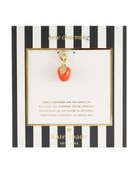 kate spade new york - Red How Charming Big Apple Charm - Lyst