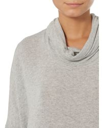 Label Lab - Gray Slouch Polo Neck Jersey Knit Jumper - Lyst