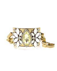 Juicy Couture - Metallic Brilliant Blooms Bracelet - Lyst