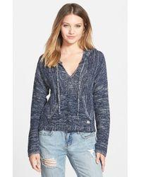 Billabong - Blue 'Baja' Poncho Sweater - Lyst