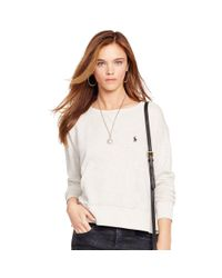 Polo Ralph Lauren - White Fleece Crewneck Sweatshirt - Lyst