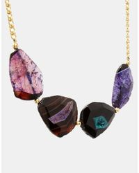 Kenneth Jay Lane - Multicolor Chunky Stone Necklace - Lyst