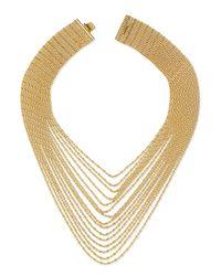 Auden | Metallic Leighton Multi-strand Chain Necklace | Lyst