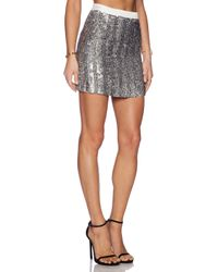 MLV | Metallic June Sequin Skirt | Lyst