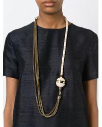 Lanvin | Metallic 'ball Vita' Necklace | Lyst