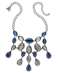 INC International Concepts | Hematite-tone Blue Stone Linked Bib Necklace | Lyst