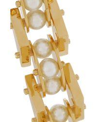 Lele Sadoughi - Metallic Pearl Satellite Gold-Plated Faux Pearl Bracelet - Lyst