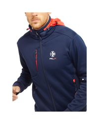 Ralph Lauren - Blue Jersey Track Jacket for Men - Lyst