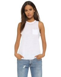 Chaser - White Pocket Muscle Tee - Lyst