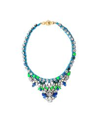 Shourouk - Blue Theresa Necklace - Lyst