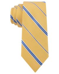 Tommy Hilfiger | Yellow Thin Stripe Slim Tie for Men | Lyst