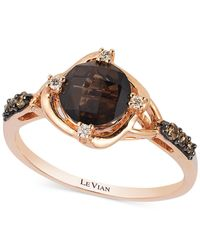Le Vian | Pink Petite Collection Chocolate Quartz (1-1/4 Ct. T.w.) And Diamond (1/8 Ct. T.w.) Ring In 14k Rose Gold | Lyst