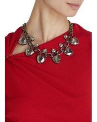 Lanvin - Metallic Crystal Embellished Necklace - Lyst